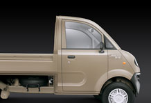 Jeeto Mini Truck Front View in Beige Colour