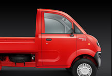 Jeeto Mini Truck Side View in Red Colour