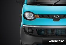Jeeto Mini Truck Front View in Blue Colour