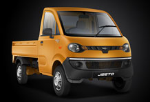 Jeeto Mini Truck Front View in Yellow Colour